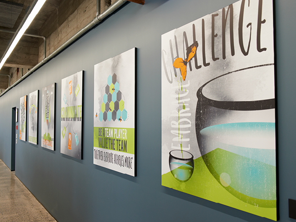 IT Partners values wall graphics