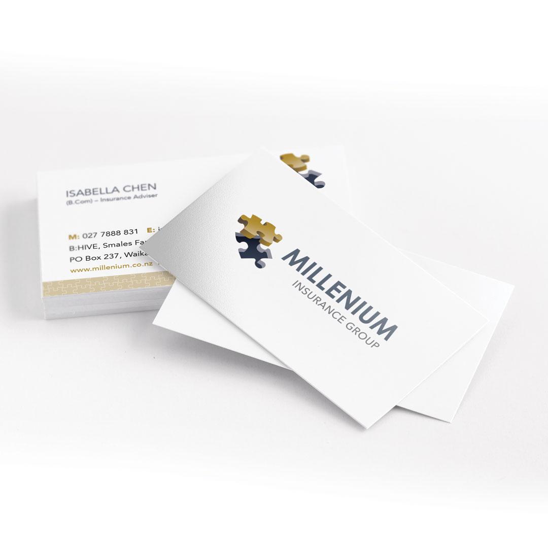 Brand development business cards