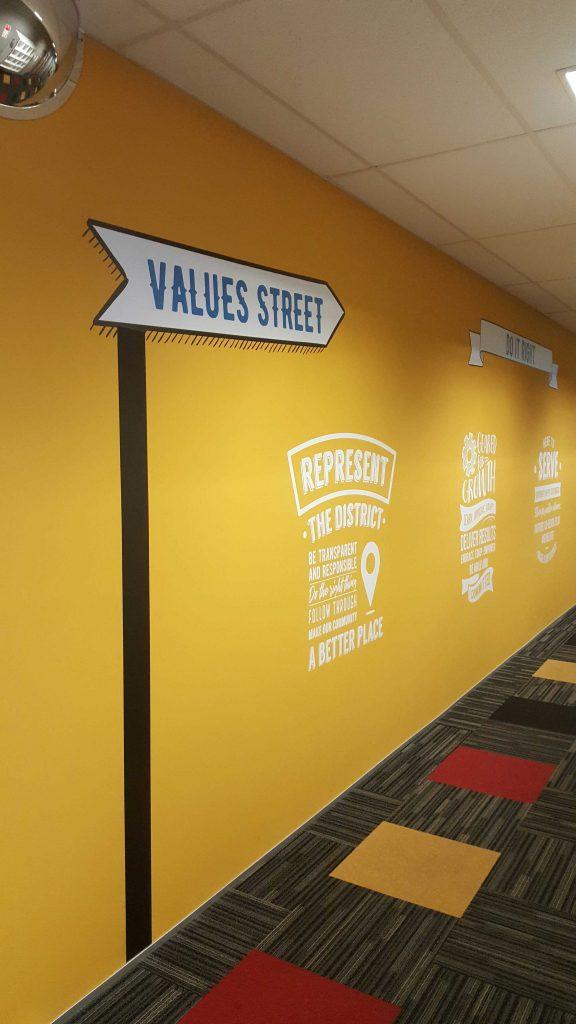 organisational values artwork